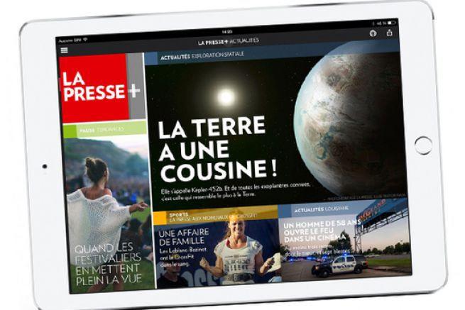 La Presse +, édition pour tablette a, semble-t-il, rencontré son public et ses annonceurs.