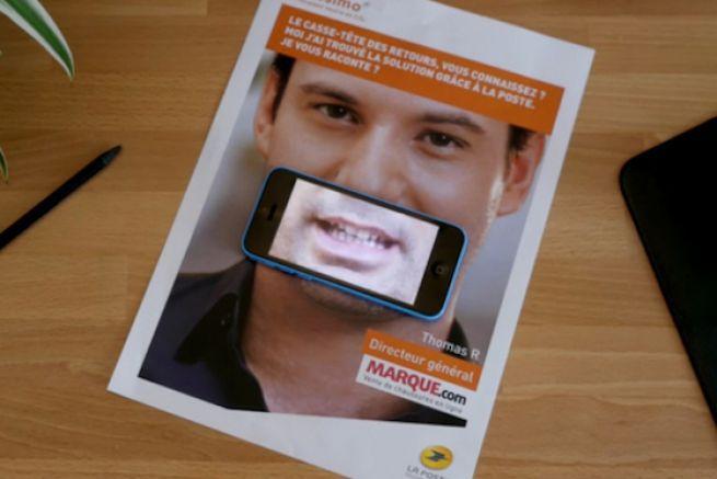 Mailing connecté réalisé par La Poste via un QR code.