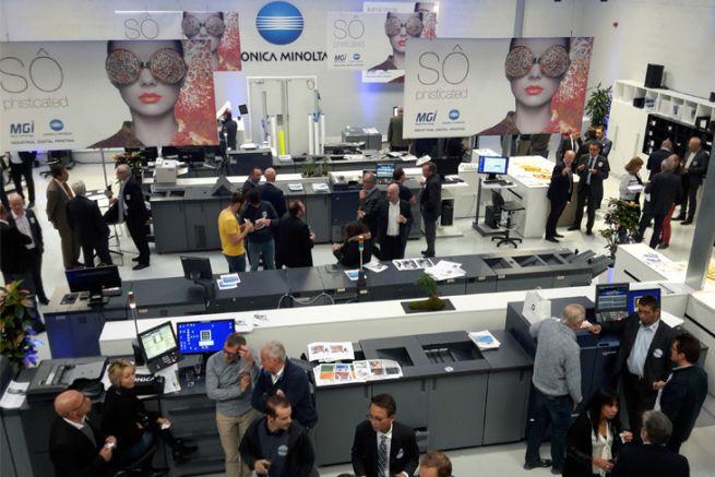 Beaucoup de professionnels ont répondu présent à l'inauguration du showroom Konica Minolta MGI à Carrière-Sur-Seine.