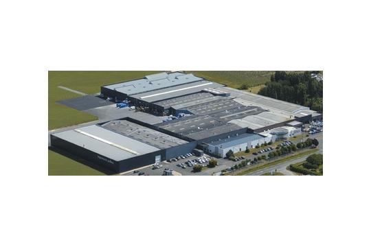 Vue aérienne de l'imprimerie Pollina (85)