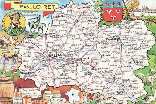 Ancienne carte postale du Loiret