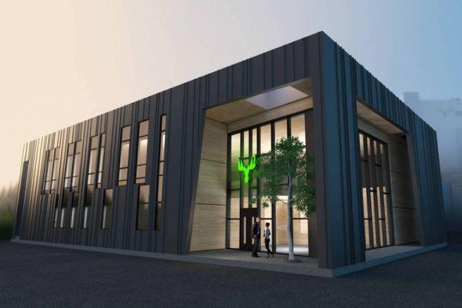 Le futur centre d'excellence de Metsä Board pour le carton et l'emballage à Äänekoski, en Finlande.